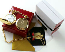 MUHAMMAD ALI Signed 24k Gold Pocket Watch in Gift Case Boxing Memorabilia