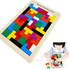 Tetris Montessori Children's Kids Educational Baby Toddler Wooden Puzzle Toy New