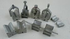 LARGE LOT OF STARRETT AND UNMARKED VEE BLOCKS FOR METAL LATHE MACHINIST