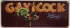 GAY COCK FRUIT CO. heavy embossed Metal Sign Stanley Levinson co. CA   2090081