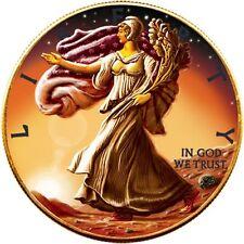 USA 2016 1$ Ounce of Space Walking Liberty Eagle on Mars 1oz Meteorite NWA 6963