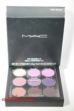 Mac Eye Shadow x 9 (Purple Times Nine) 0.8g/0.02oz Each Full Size Palette Nib