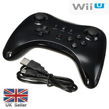 Bluetooth Wireless Remote Controller for Nintendo WII U PRO+ USB Cable Black