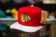 American Needle Chicago Blackhawks White Wash Snapback Hat