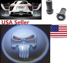 Car door laser projector For Punisher Skull Led Emblem Logo Ghost Shadow Light