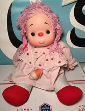 "Ice Cream Babies Doll With Cone Pink Hair 21"" Large NEEDS TLC"