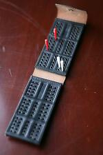 FOLDING CRIBBAGE BOARD FOR DOMINOE SCORING Solid Leather Quality Crafted NEW !