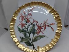 CFH GDM Signed Antique Limoges Hand Painted Floral Plate!