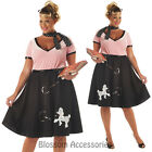 CL43 50s Sweetheart Hop Poodle Skirt Grease Poodle Bopper Fancy Dress Costume