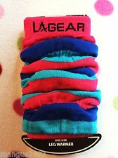LADIES QUALITY AEROBIC DANCE GYM WORKOUT LEG WARMERS RUCHED FUSCHIA PINK BLUE