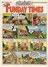 FUNDAY TIMES NUMERO 4 (1989) RARE PERIODIQUE ANGLAIS AVEC ASTERIX A LA UNE