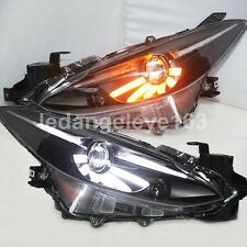 LED DRL Headlights For MAZDA 3 Axela LED Head Lamps 2013 to 2015 year JC