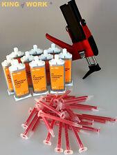 Set kli-TEC 1x Dosierpistole 10x 2K Kunststoffkleber 30x Mischdüse Glue Kleber 1