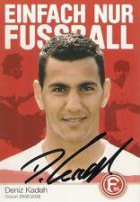 Deniz kadah Fortuna Düsseldorf 2008/2009 2008/09 08/09 - dfb liga autógrafo