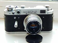FED-2 35mm USSR Rangefinder Film Camera (copy Leica) + lens industar 26M EXC