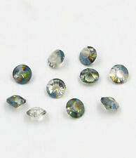 "12 pieces Swarovski 8mm side hole ""Diamond shape"" Crystal bead A Hyaline green"