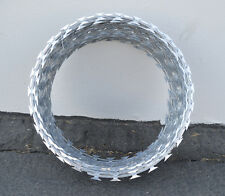 """12"""" RAZOR / HELICAL BARBED WIRE GALVANIZED STEEL 5 COIL 100 FEET COVERAGE"""
