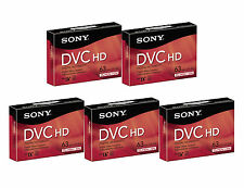 5 Sony HDV DVM-63HDR mini DV HD tape for TRV25 TRV22 TRV20 TRV19 TRV18 TRV17