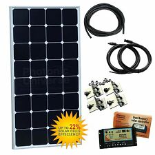 100W 12V dual battery solar panel charging kit (copper-backed) camper boat yacht