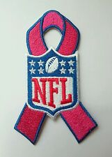 """NFL Breast Cancer Awareness Pink Ribbon 4"""" Embroidered Iron On Patch"""
