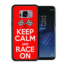 Keep calm and Race On For Samsung Galaxy S8 Plus + 2017 Case Cover by Atomic Mar