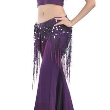 Belly Dance Hip Skirt Scarf Wrap Gem Waist Belt Beads Sequin Hula Tassles Scarf
