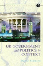 Access to Politics: UK Government And Politics In Context,ACCEPTABLE Book