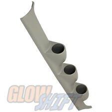GlowShift 96 - 00 Honda Civic Gray Triple Gauge Pillar Pod Mount 52mm - GS-313G