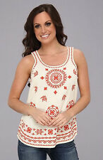 LUCKY BRAND PACIFICA EMBROIDERED TANK XL