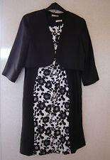 BERKERTEX Dress & Jacket Black White Suit 2 Piece  Size 16 BNWT