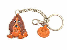 Basset Hound Handmade 3D Leather Dog Bag/Ring Charm *VANCA* Made in Japan #26055