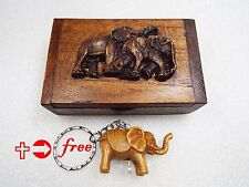 Box Wood Vintage Wooden Antique Trinket Jewelry Storage Handmade Keepsake Art