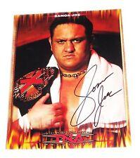 TNA WWE SAMOA JOE HAND SIGNED 8X10 PROMO PHOTO BELT WITH COA