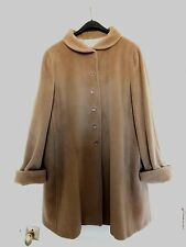 ARMANI COLLEZIONI TAUPE BEIGE CASHMERE WOOL BLEND COAT ITALY 10