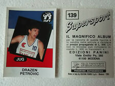 Drazen Petrovic Figurine Supersport Panini 1986 con velina Mint Sticker #139