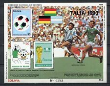 37200) BOLIVIA 1990 MNH** World Cup Soccer Italia'90 Michel 173 S/S