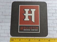 Beer Breweriana Coaster: HOLLISTER Brewing Co ~ Goleta, CALIFORNIA Micro Brewery