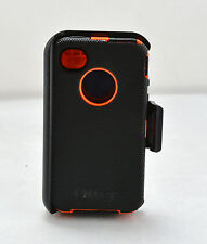 OtterBox Defender Rugged Case w/Belt Clip Holster for iPhone 4S 4 (Black/Orange)