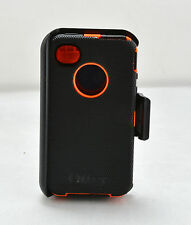 OtterBox Defender Rugged Case w/Holster Clip for iPhone 4 4S (Black/Orange) USED