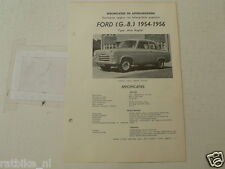 FO29--FORD ENGLAND NEW ANGLIA 1954-1957 ,TECHNICAL INFO CAR VINTAGE OLDTIMER