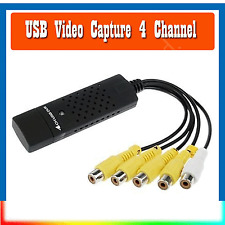 Easycap 4 4Channel USB 2.0 TV DVD DVR Video Capture Adapter with USB Cable