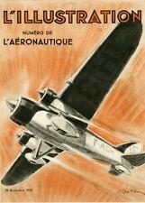 """""""L'ILLUSTRATION: NUMERO DE L'AERONAUTIQUE"""" Couverture originale entoilée Géo HAM"""