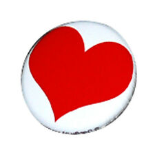 Badge GRAND COEUR ROUGE Red Big Heart love pop glamour retro pins button Ø25mm