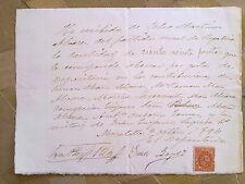 J22-DOCUMENTO RECIBO AÑO 1894 CON SELLO FISCAL TIMBRE MOVIL MISMO AÑO.MORATALLA,