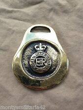 Excellent Vintage British Army The Royal Horse Guards RHG Military Horse brass