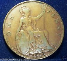 KEY DATE - 1919 KN  Great Britain One Penny - UK  Coin