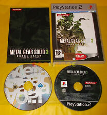 METAL GEAR SOLID 3 SNAKE EATER + SAGA VOL 01 1 Ps2 Ver Ita Platinum COMPLETO AC
