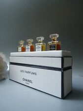 CHANEL 4 x1.5ml PARFUM VINTAGE 1996 MICRO MINIATURE BOX SET No5 COCO ALLURE No19