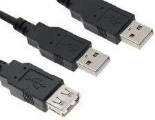 New USB 2.0 male to USB male and female splitter Cable for data and power