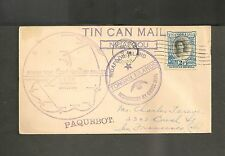 Tonga Tin Can Mail - 1934 South Seas Exploration Cruise - Hawaii Paquebot